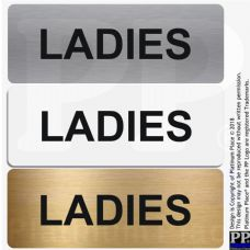 Ladies-Toilet Sign-Aluminium Metal-Lavatory,Door,Notice,Office,Shop,Toilets